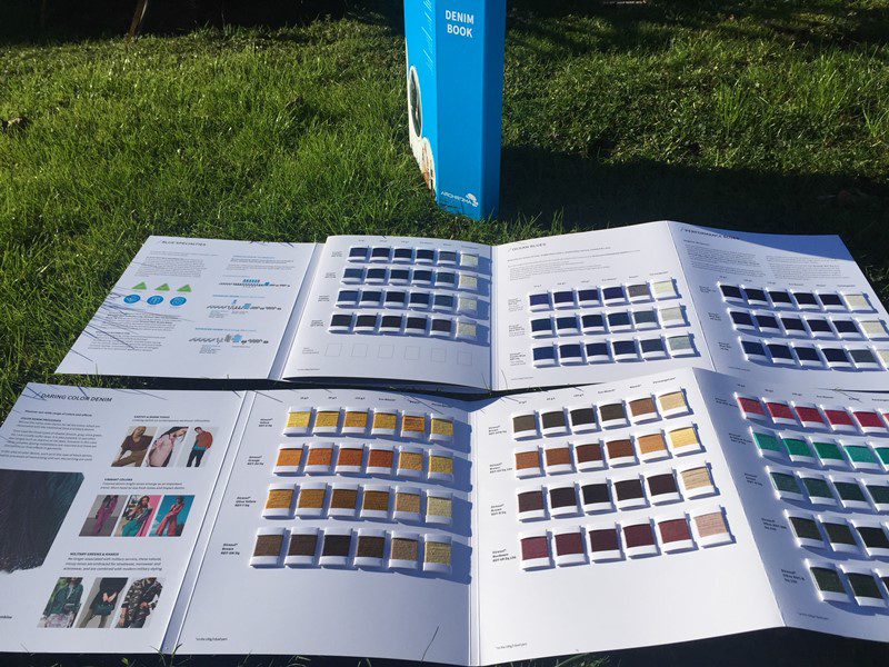 Denim Book which includes 200 yarn swatches