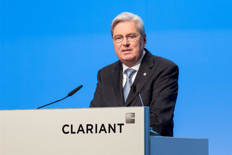 Hariolf Kottmann, Chairman of the Board of Directors, opens the 24th Annual General Meeting of Clariant AG