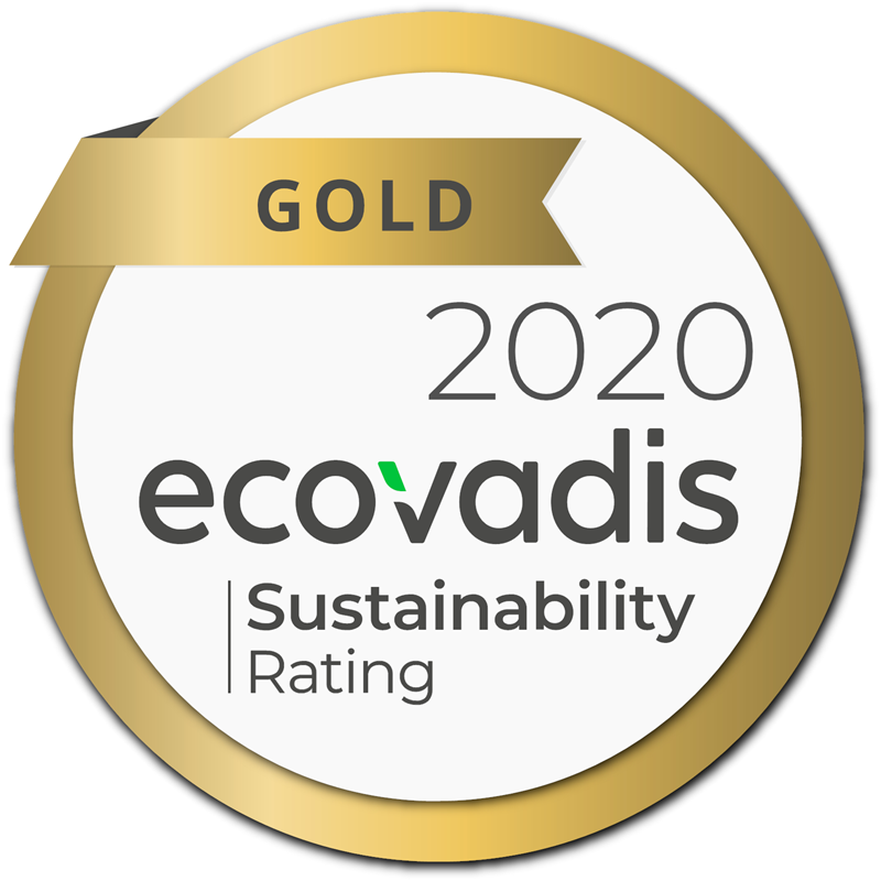 "Archroma has been awarded the EcoVadis ""Gold"" rating in corporate social responsibility (CSR) 2020. (Photo: Archroma)"